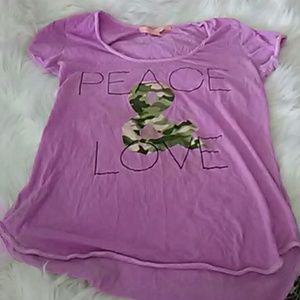 Peace and love purple tee